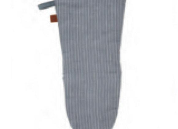 7GRY02L 1880 Heritage Series Grey Stripe Linen Gauntlet Mitt by Ulster Weavers