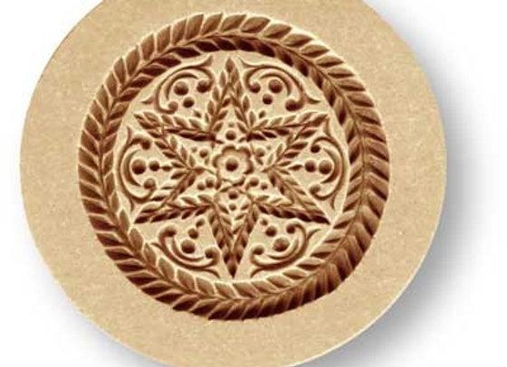 Baroque Star wreath border small springerle cookie mold by Änis-Paradies 1672