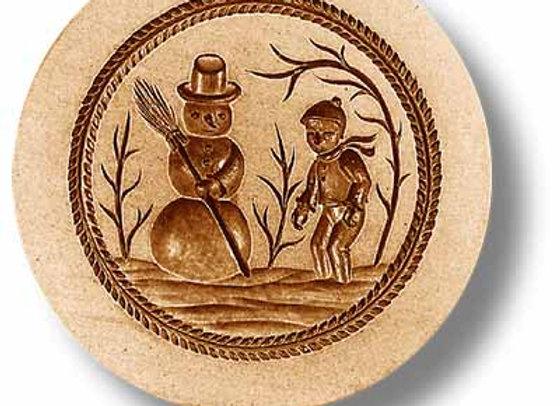 AP 1000 Snowman springerle cookie mold by Anis-Paradies