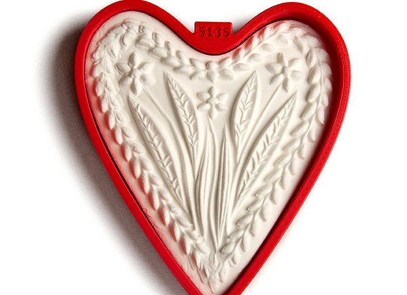 C - 5135 Heart with three flowers cookie cutter - Gingerhaus 17253
