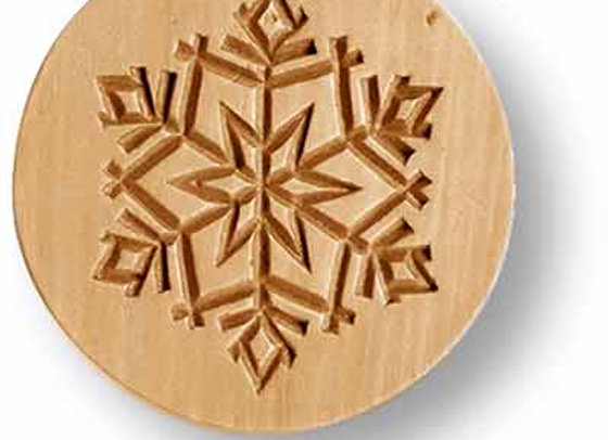 AP 1015 Swiss Snowflake springerle cookie mold by Anis-Paradies 1015