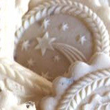 Star of Bethlehem springerle cookie mold by Anise Paradise SKU: 01698