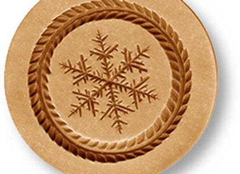 AP 1027 Sparkle Snowflake springerle cookie mold by Anis-Paradies