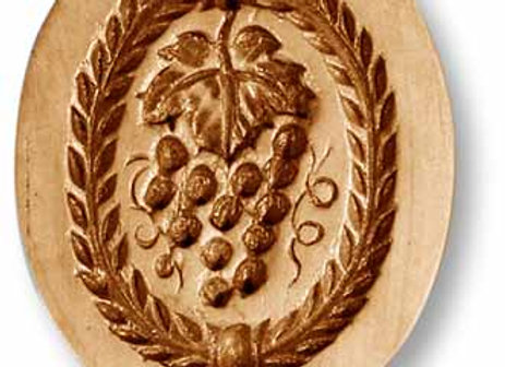 AP 2735 Grapes oval springerle cookie mold by Anis-Paradies 2735
