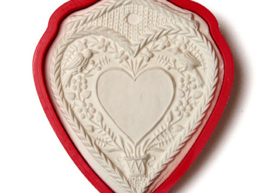 C - 5108 Love Heart for Personalization cookie cutter by Gingerhaus 17202