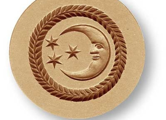 Moon with 3 Stars Springerle Cookie Mold by Anise Paradise 7130