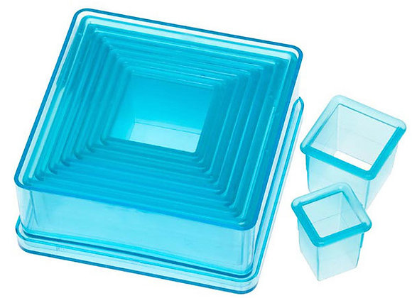 9 Piece Plain Square Cutter Set