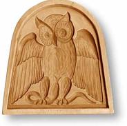 3415 owl in window springerle cookie mold