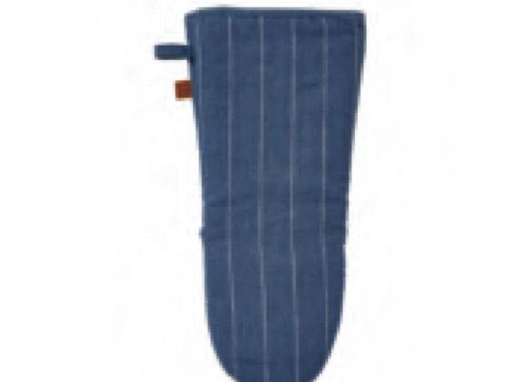 7PSP02L 1880 Heritage Series Indigo Stripe Linen Gauntlet Mitt - Ulster Weavers