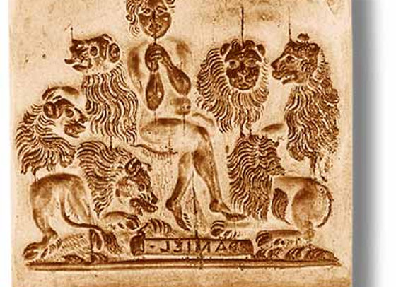 Daniel in the Lion ́s Den circa 1680 springerle cookie mold - Anis-Paradies 1119