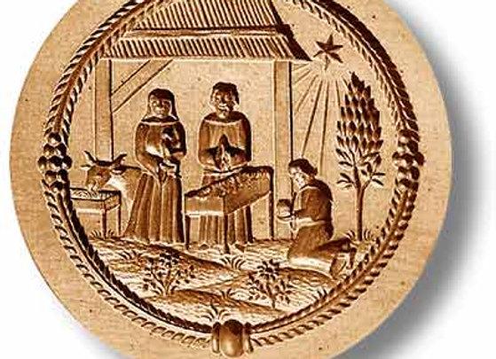 AP 1123 Nativity Manger Scene springerle cookie mold by Anis-Paradies