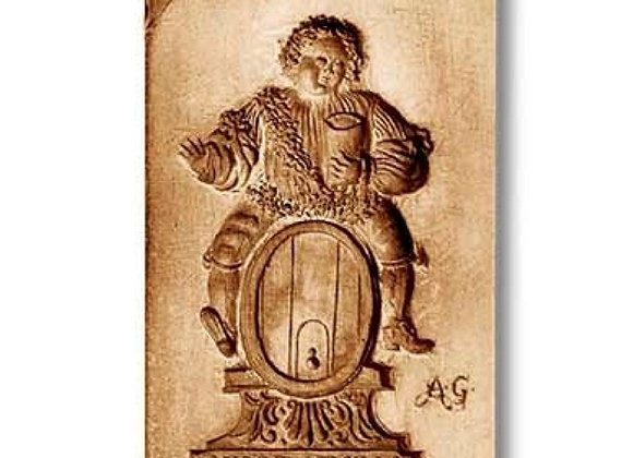 Vive le Roy Bacchus Cookie Mold by Anis-Paradies 07730