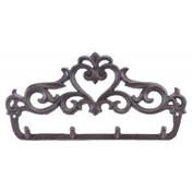 cast iron heart wall hooks potholder hoo