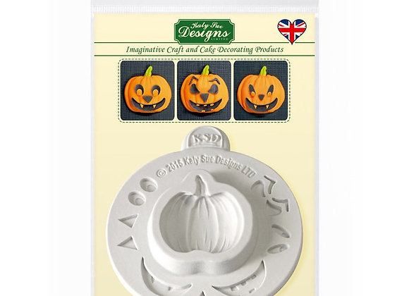 Pumpkin Face Silicone Mould  silicone mold by Katy Sue Designs CE0029