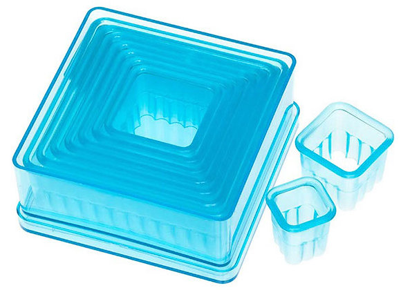 9 Piece Fluted Square Cutter Set