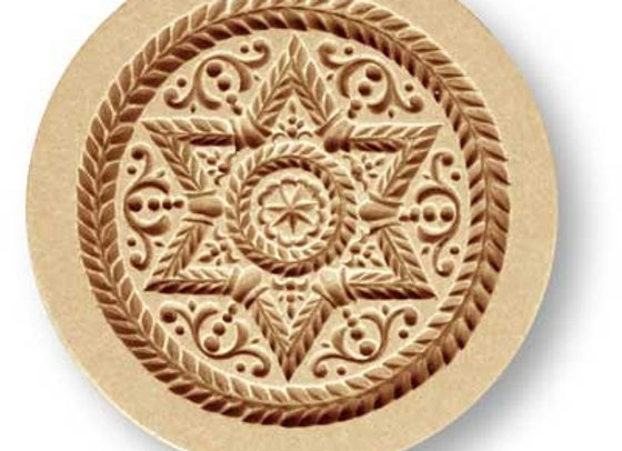 AP 1673 Baroque Star springerle cookie mold by Änis-Paradies 1673
