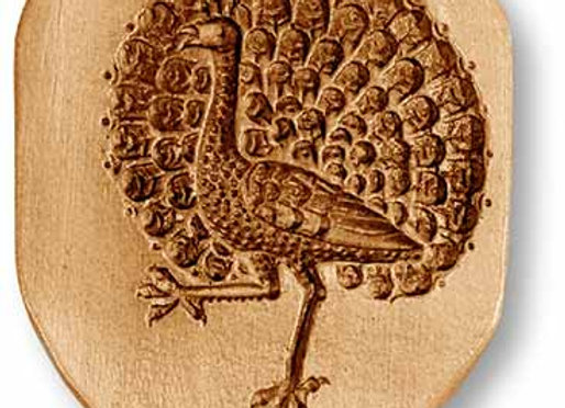 AP 3502 Strutting Peacock springerle cookie mold by Anise Paradies