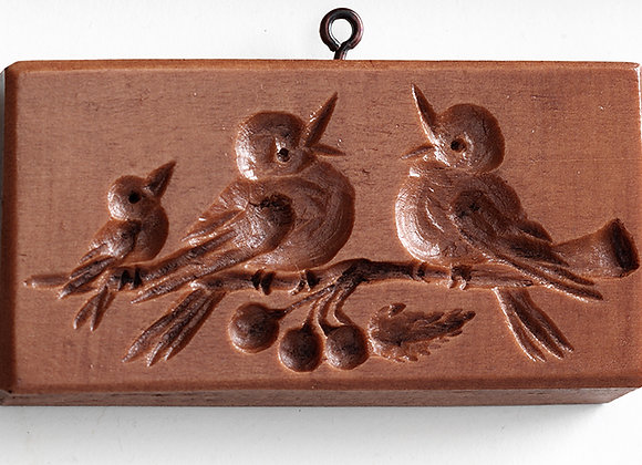 Robin Bird Family Springerle Cookie Mold by House on the Hill M5822
