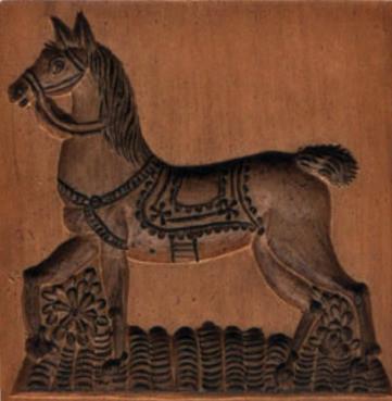PRANCING HORSE SPRINGERLE MOLD HOUSE ON