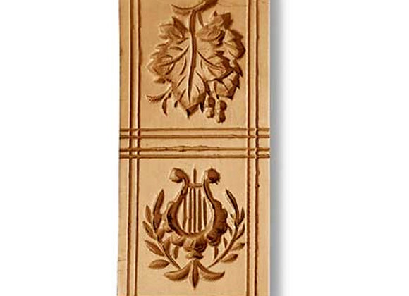 Two Pictures Grape Leaf Harp springerle mold by Änis-Paradies 8207