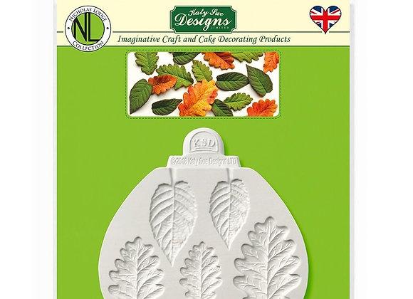 Blackberry Leaf & Oak Leaves silicone mold by Katy Sue Designs NLC010