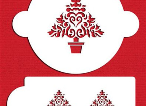 Christmas tree cookie cake stencil set by Designer Stencils C100