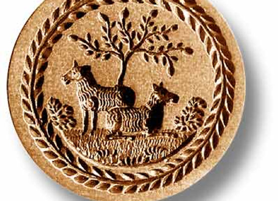 AP 3213 Two Sheep springerle cookie mold by Anise Paradise 3213