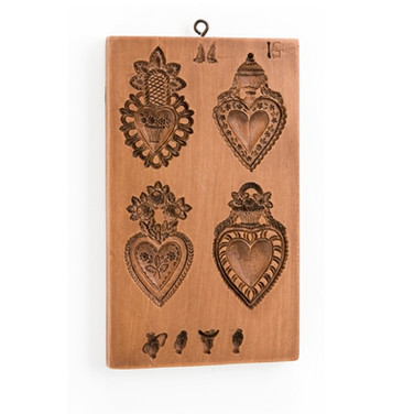 four hearts valentines mold gingerhaus h