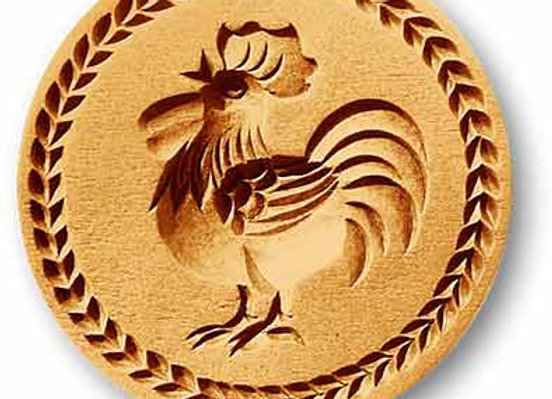 AP-3204 Rooster medium springerle cookie mold by Anise Paradise