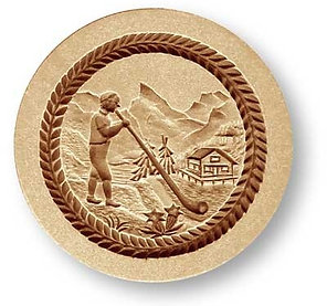 Alphorn springerle cookie mold by Änis-Paradies 6841