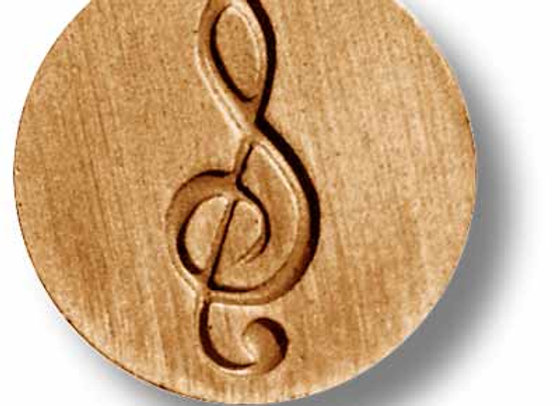 Trebel Clef music note springerle cookie mold by Anise Paradise 6837