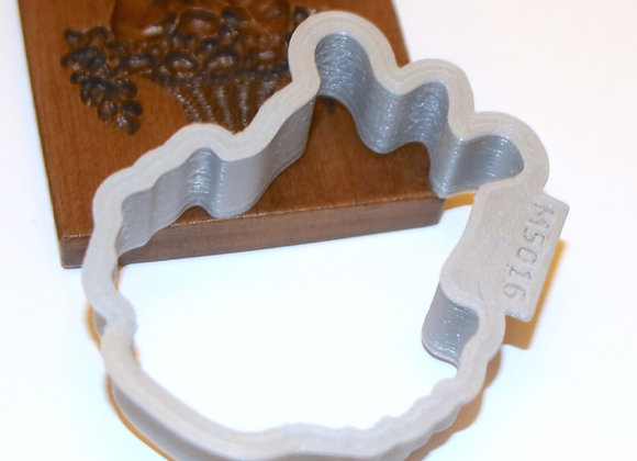 C-M5016 Rabbits Silhouette Cookie Cutter by Gingerhaus CM5016