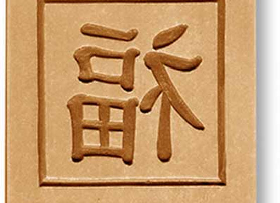 AP 6281 Chinese Symbol Luck springerle cookie mold by Anise Paradise 6281