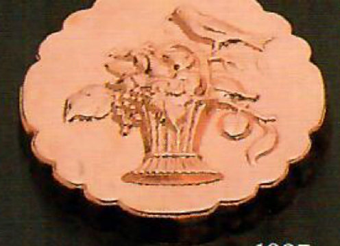 Swiss Bird on a Basket Copper Choclolate Baking Mold by Birth-Gramm BG1227