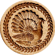 thanksgiving turkey springerle cookie mo