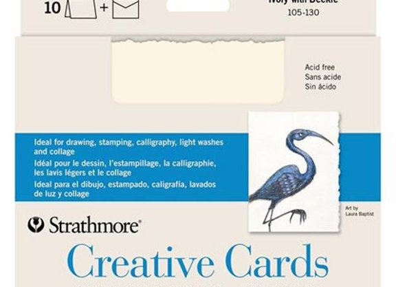 Strathmore® Creative Cards - Blank Greeting Cards - Ivory Deckle STR105-130