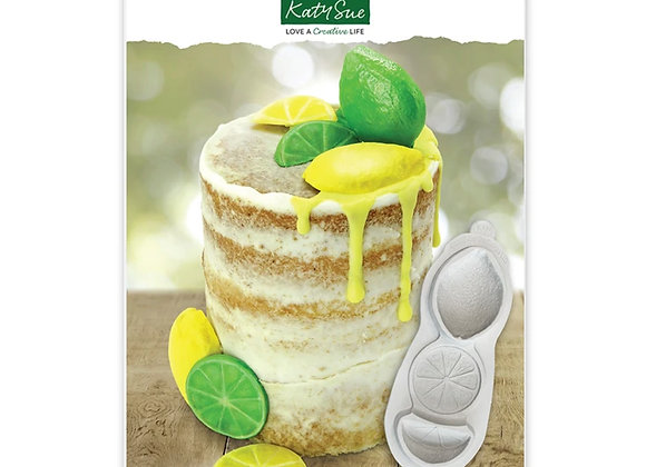 CE0118 Citrus Fruit Lemon Lime silicone mold by Katy Sue Designs