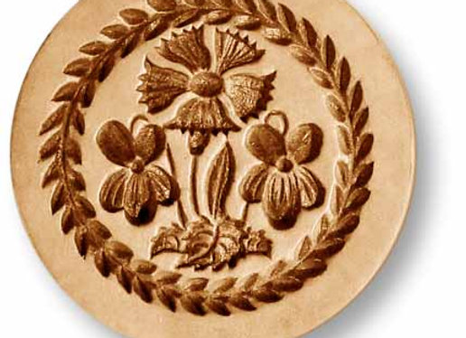 Cornflower with Violets springerle cookie mold by Anis-Paradies 2236