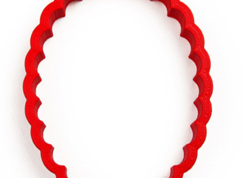 AP C - 17281 Fluted Oval cookie cutter by Gingerhaus 17281