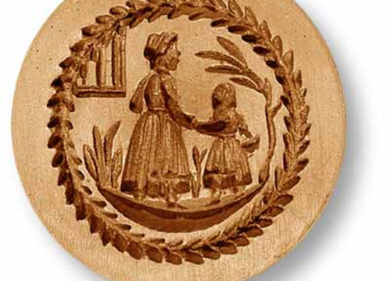 AP 9711 Mother Walking with Child springerle cookie mold by Anis-Paradies