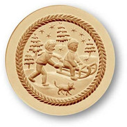 1214 springerle cookie mold sled
