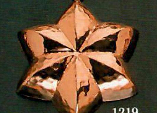 Swiss Star 12cm Copper Choclolate Baking Mold Birth-Gramm BG1219
