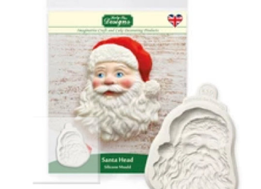 CF0013 Santa cake topper silicone mold by Katy Sue Designs