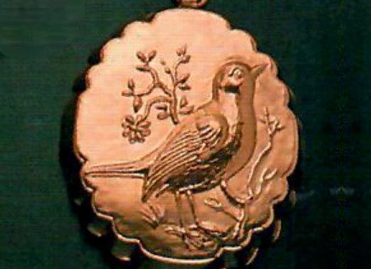 AP 1106-F Swiss Bird - Robin Facing Right Copper Chocolate Mold - Birth Gramm