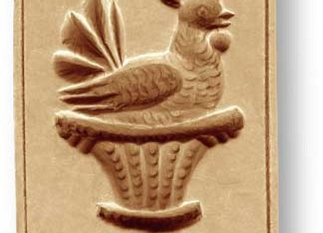 AP-3462 Rooster in Basket springerle cookie mold by Anise Paradise