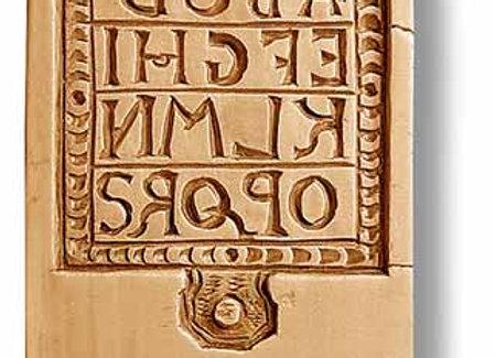 Half of the ABCs Slate Alphabet springerle cookie mold Änis-Paradies 9996