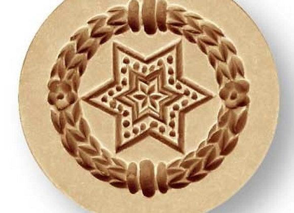 1699 Mini Star wreath border small springerle cookie mold by Änis-Paradies