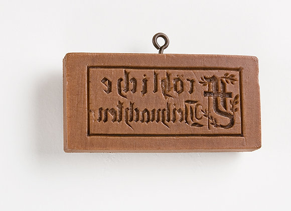 Froliche Weinacht Springerle Cookie Mold by House on the Hill M5516
