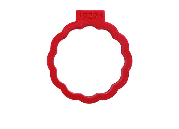 C - 17274 Fluted Round cookie cutter by Gingerhaus