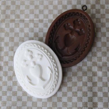 faith hope love springerle cookie mold a
